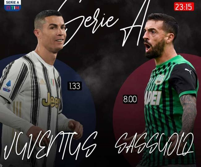 فرم پیش بینی بازی یوونتوس و ساسولو لیگ برتر ایتالیا